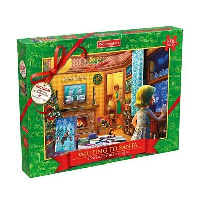 Waddingtons Limited Edition 1000 Piece Adult Christmas Jigsaw Puzzle & Coin
