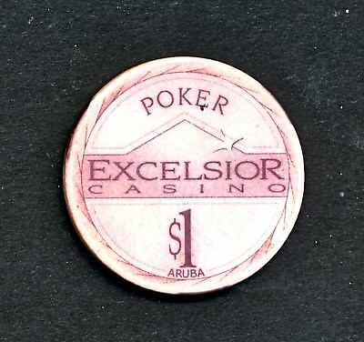 SExcelsiur Casino Aruba $1 Jeton Chip Poker Aruba Netherlands Antilles/Holland