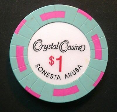 Crystal Sonesta Casino $1 Jeton Chip Aruba Netherlands Antilles/Holland