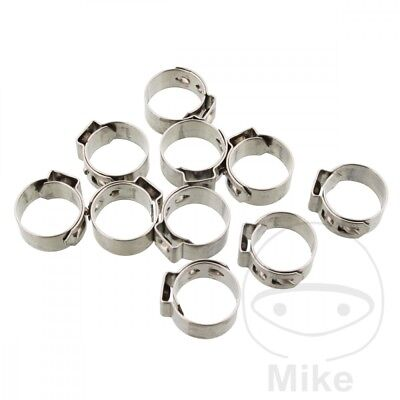 JMP Band Clamp 12.6MM Width 7MM Stainless Steel x10pcs
