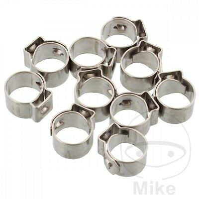 JMP Band Clamp 9.0MM Width 7MM Stainless Steel x10pcs