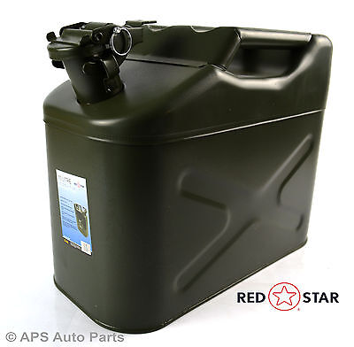 10 Litre Metal Steel Jerry Gerry Can Fuel Diesel Petrol Water Oil Container Tank