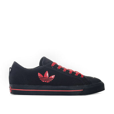 Mens Raf Simons Matrix Spirit Low Trainers In Black Red- Lace Fastening- Rubber