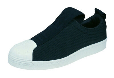 new arrivals 791d2 7bc80 ADIDAS ORIGINALS SUPERSTAR BW3S Slip-On Womens Trainers Fashion Shoes -  Black