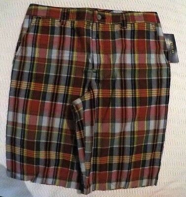 "Polo Ralph Lauren Boy's Plaid Color Shorts Size: 18  29""Waist  11""L"