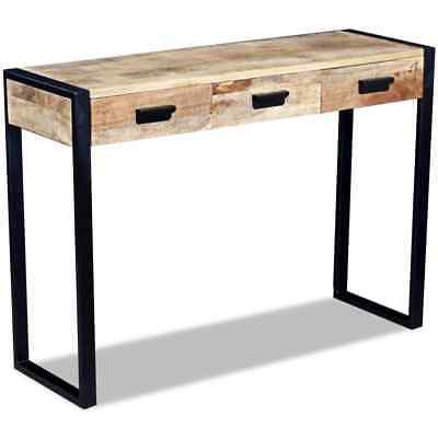 Industrial Style Wooden Console Table Solid Wood High Board Side Drawer Cabinet