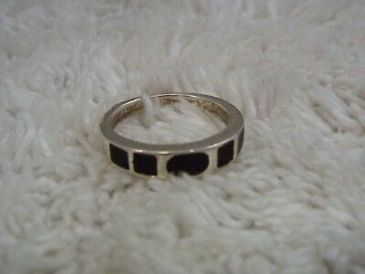 Silvertone Band Color-Changing MOOD Ring ~ Size 5  (C22)