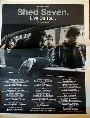 SHED SEVEN Live On Tour 1998 - Full Page NME Magazine Advert - UK Tour Dates