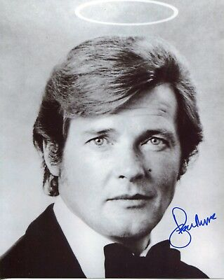 Sir Roger Moore SIGNED AUTOGRAPH The Saint AFTAL UACC RD
