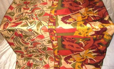 Multi-color Pure Silk 4 yd Vintage Antique Sari Saree Fast Selling Design #9BGOD
