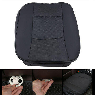 1PC Universal Black Car Leather Front Seat Cushion Pad Chair Cover Protector Mat