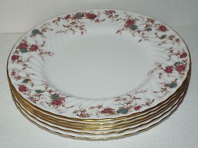 SET OF 6 Minton Ancestral S 376 Bone China 27cm  DINNER PLATES 1st Quality