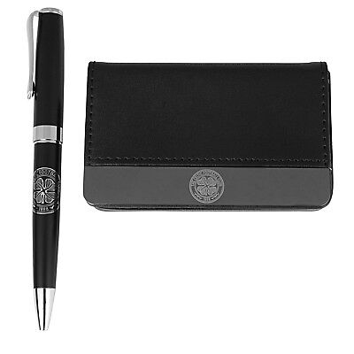 Celtic FC Official Football Gift Boxed Business Card Holder & Pen