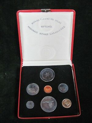 1967 Canada Specimen Coin Set - 6 Coins + Medal with Box