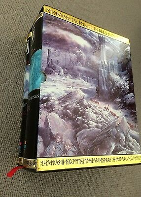 Tolkien LORD OF THE RINGS & HOBBIT Harpercollins box 2 vols Alan Lee illustrated