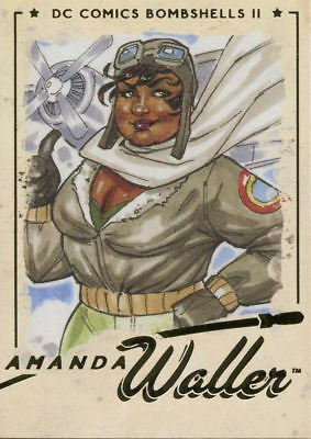 DC Comics Bombshells 2 Gold Deco Base Card #54 Amanda Waller