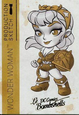 DC Comics Bombshells 2 Gold Deco Lil Sketch Chase Card A01 Wonder Woman