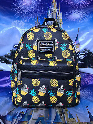 Disney Parks Loungefly Minnie Pineapple & Dole Whip Swirl Backpack New In Hand