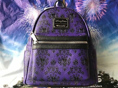 Disney Parks Loungefly Minnie Mouse The Haunted Mansion Backpack New In Hand