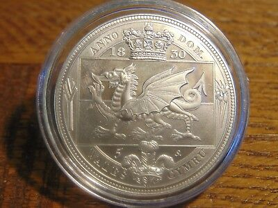 George Iiii 1830 Welsh Silver Coated Pewter Fantasy Reproduction Crown Wales