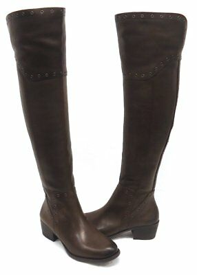 e6d18230d21d NEW  198 Vince Camuto Bestan Carob Brown Grommet Over Knee Riding Boots  SelectSz