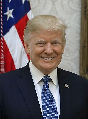 President Donald Trump Official PHOTO Portrait Smiling Photograph WHITE HOUSE