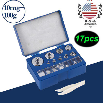 211.1g 10mg-100g Grams Precision Calibration Scale Weight Set Balance Test US