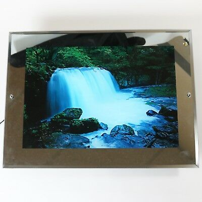 Moving Waterfall Lighted Motion Picture Mirror W Sound 12 X 16 X