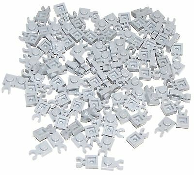 LEGO NEW Light Bluish Gray Plate Modified 1x2 w// Clip on Top Lot x20 Parts 92280
