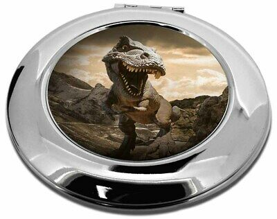 3D Dinosaur by Rocks Make-Up Round Compact Mirror Christmas Gift, DIN-3CMR