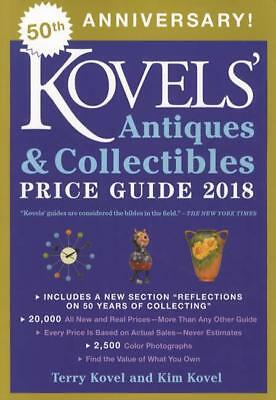 2018 Kovels Antiques Collectibles Price Guide 50th Ed 20,000 Prices in COLOR!