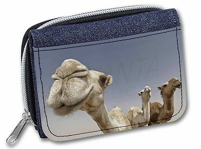 Camels Intrigued by Camera Girls/Ladies Denim Purse Wallet Christmas Gi, CAM-1JW