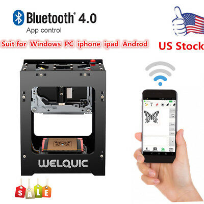 Laser Engraving Machine Bluetooth & USB Printer Laser Engraver 1500mw 3D Effect