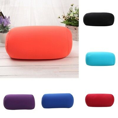 Roll Bedding Cushion Neck Head Soft Support Back Pillow Foam Particles Filling