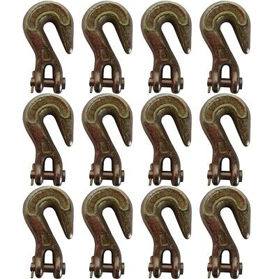 "(12) 5/16"" Clevis Grab Hook G43 Flatbed Truck Trailer Tow Chain Tie Down Hooks"