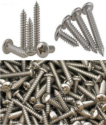 M2/2.2/2.6/3/4 Self-tapping Wood Screws Phillips Pan Head Round Stainless Steel