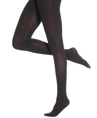 Hue Thermo Luxe Control Top Tights Espresso Heather Size 3 NWT $18.50
