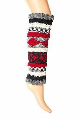 Hand-Knit Wool Leg Warmers / Boot Toppers