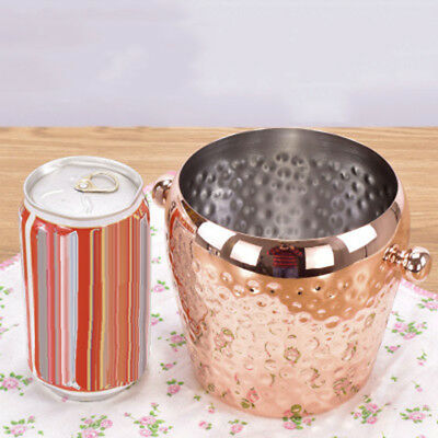 Stainless Steel Punch Bowl Champagne Wine Beer Cool Ice Bucket 1L Capacity Hot