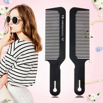 1 Pc Black Professional Flat Top Stylist Salon Barber Clipper Cutting Hair Comb