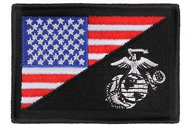 US Flag USMC Marine Corps Globe and Anchor Morale Full Color Klett Patch