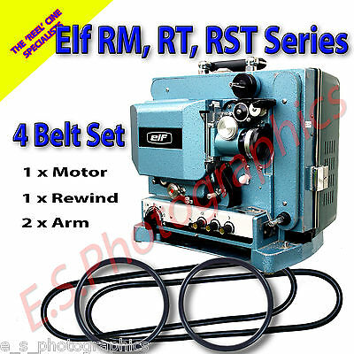 ELF 16mm Projector Belts For The RM RT RST Series - Set of 4