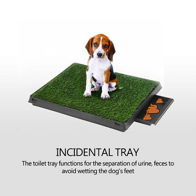 Puppy Potty Trainer Indoor Training Toilet Pet Dog Cat Grass Pad Pee Mat-Patch