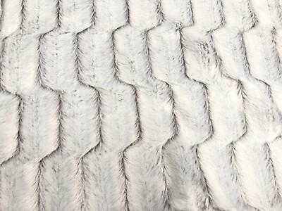 SUPER Luxury MICRO Faux Fur Fabric Material - ICE WHITE