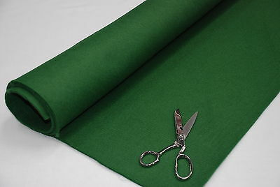 3mm THICK Acrylic Felt Baize Craft/Poker Fabric/Material BOTTLE GREEN/OLIVE