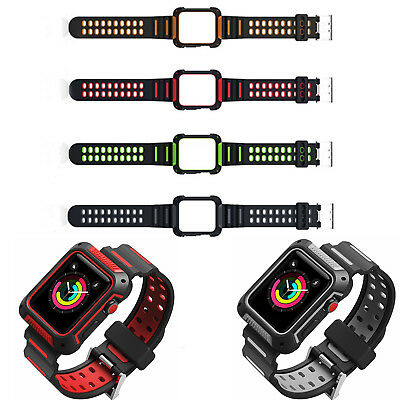Sport Straps Wristwatch Case Cover Bands for Apple Watch iwatch Series 4 42/44mm
