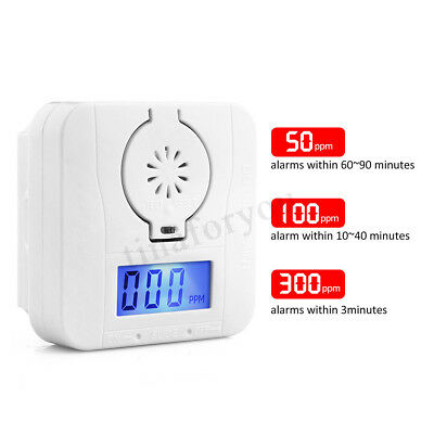 CO Carbon Monoxide&Smoke Detector Alarm Poisoning Gas Warning Sensor
