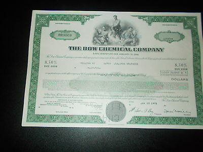 Aktie Stock Cerrtificate The Chemical Company 1978