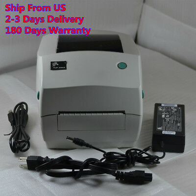 Zebra TLP 2844 TLP2844 Label Thermal Printer With Power Supply and USB cable