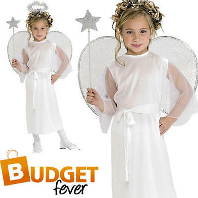 Christmas Angel Girls Nativity Fancy Dress Kids Xmas Childrens Costume Outfit